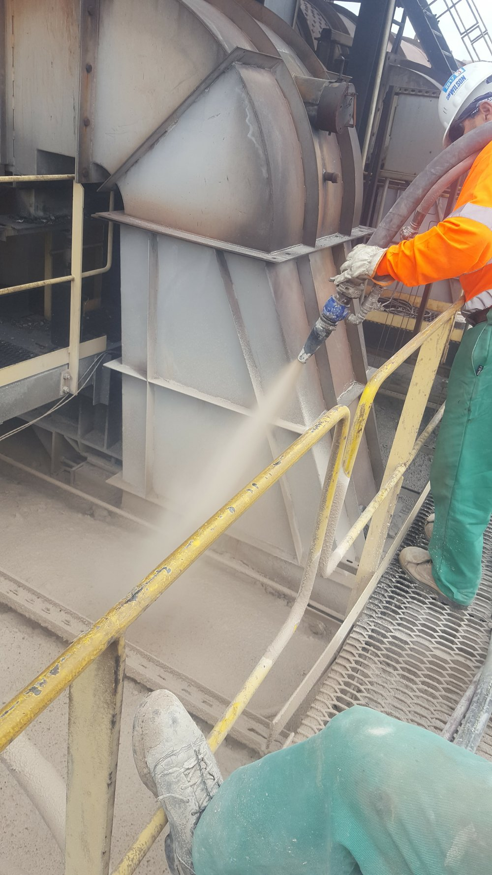 Coke Oven Top Insulation Shotcrete
