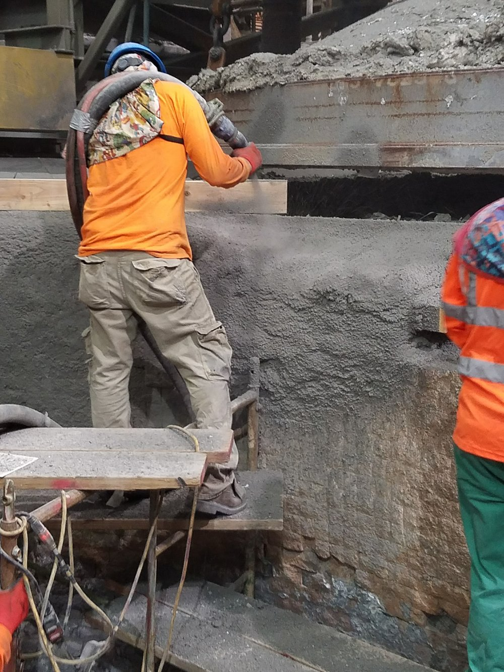 Circle Top Melter Upper Ring Shotcrete Repairs