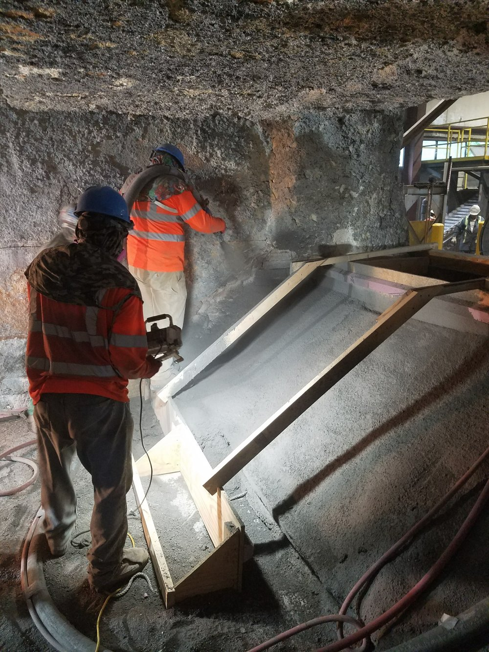 Aluminum Melter Shotcrete Ramp Repairs