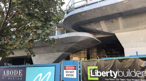 Concrete footbridge
