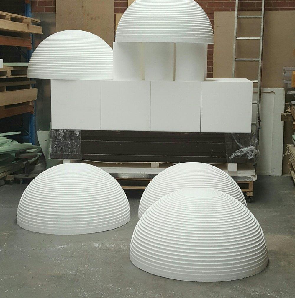 3D shapes for concrete moulding