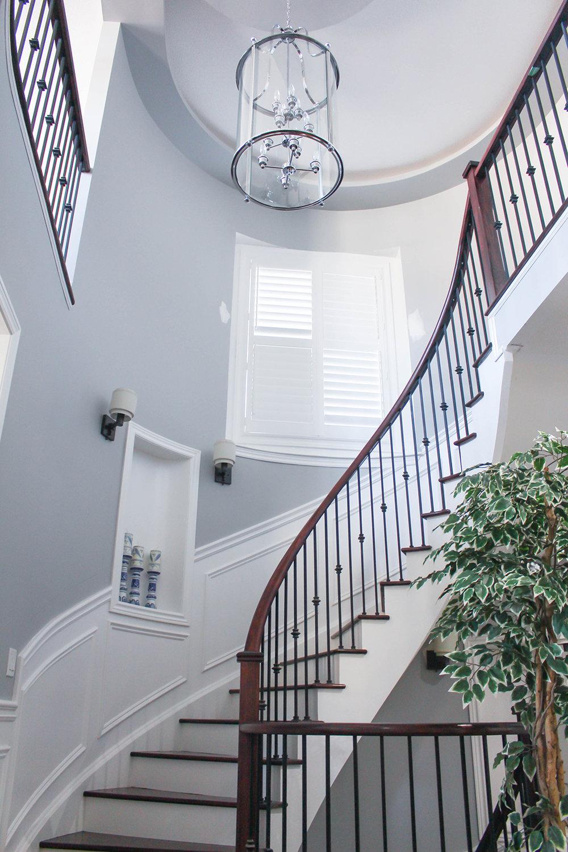 Wainscoting stairs