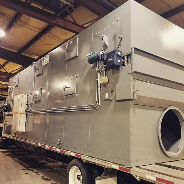Loading up today a new Beltomatic model 530B2M dryer.  This unit will dry fish food in Mexico.