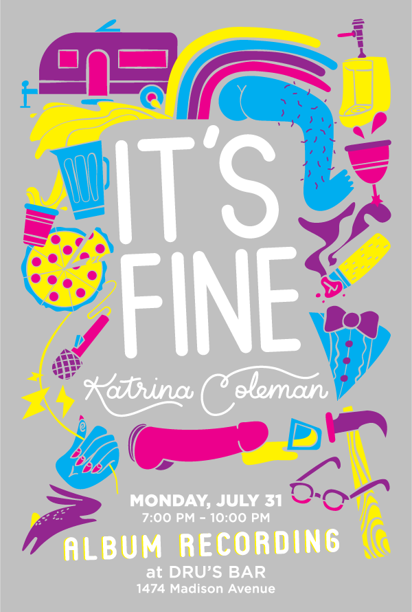 Poster Design - It's Fine | Katrina Coleman