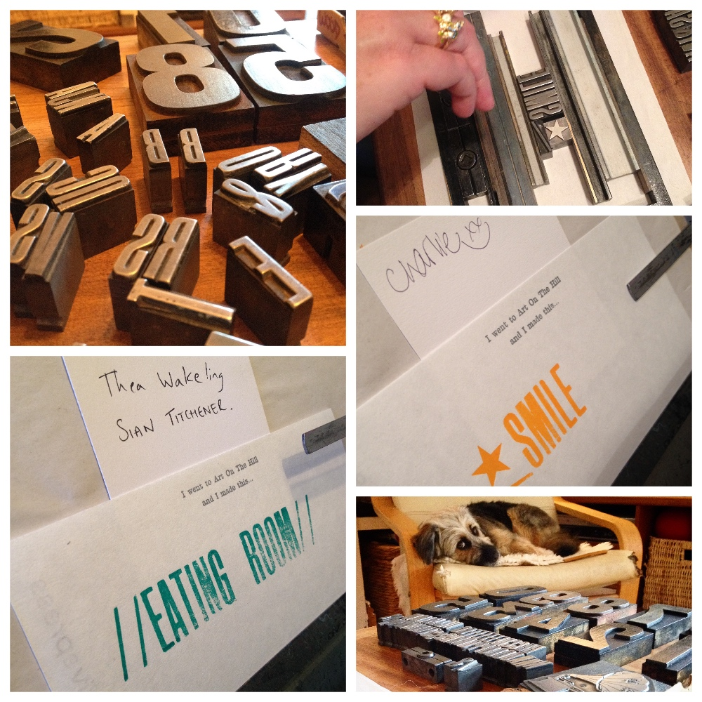 Even dogs love letterpress!
