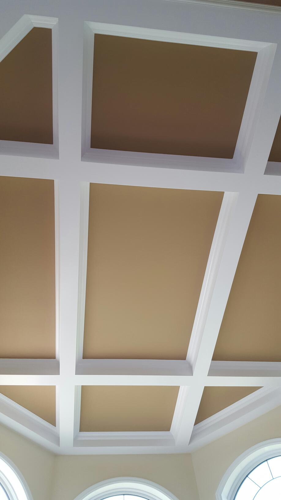 Coffered ceiling - residential home