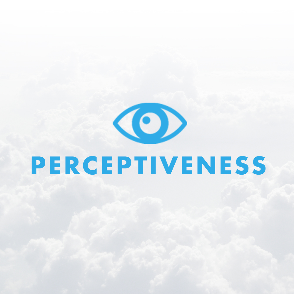 "The definition of perception is ""having or showing an ability to understand or notice something easily or quickly."" What better way to garner trust with a client and people around you then by showing the ability to quickly understand their issues and provide solutions."