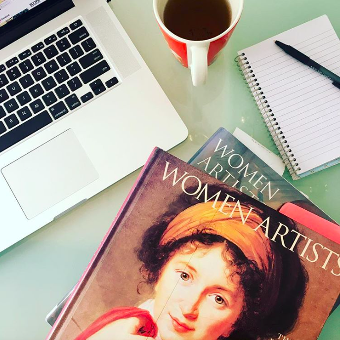 Working on new Posts paintings about women artists. So inspiring to read about these pioneers.