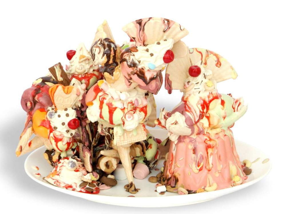 Anna's Barlows 'I'll Give You Everything' - one of her amazing ice-cream ceramic sculptures