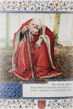 This image, by artist Juan Wijngaard, illustrates the tale of  Sir Gawain and the Loathly Lady  as retold by Selina Hastings