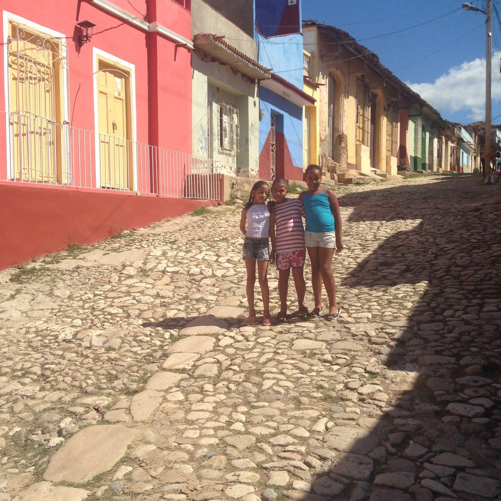 "Introducing some of our youngest ""tour guides"" from Trinidad, Cuba; Toti, Alay & Aytana!"