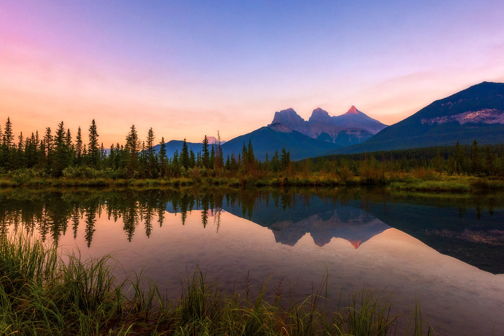 Three Sisters reflection at Sunrise