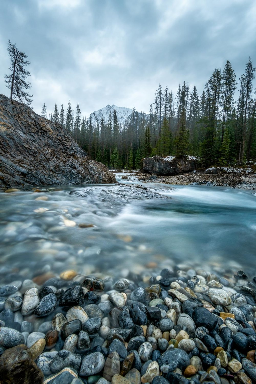 4 seconds at Natural Bridge in Yoho National Park - using a 6 stop filter.
