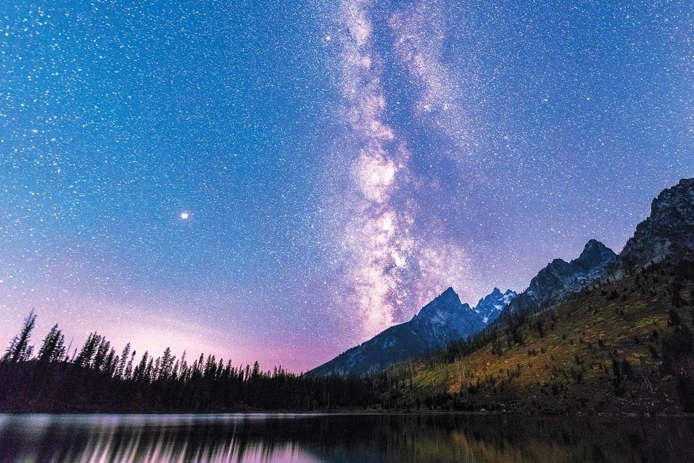 One night of the Magic in the Tetons retreat, the Milky Way would be visible without moon interference. I led my group to this beautiful spot for sunset so everyone would be set up to capture the magic of the Teton nights.
