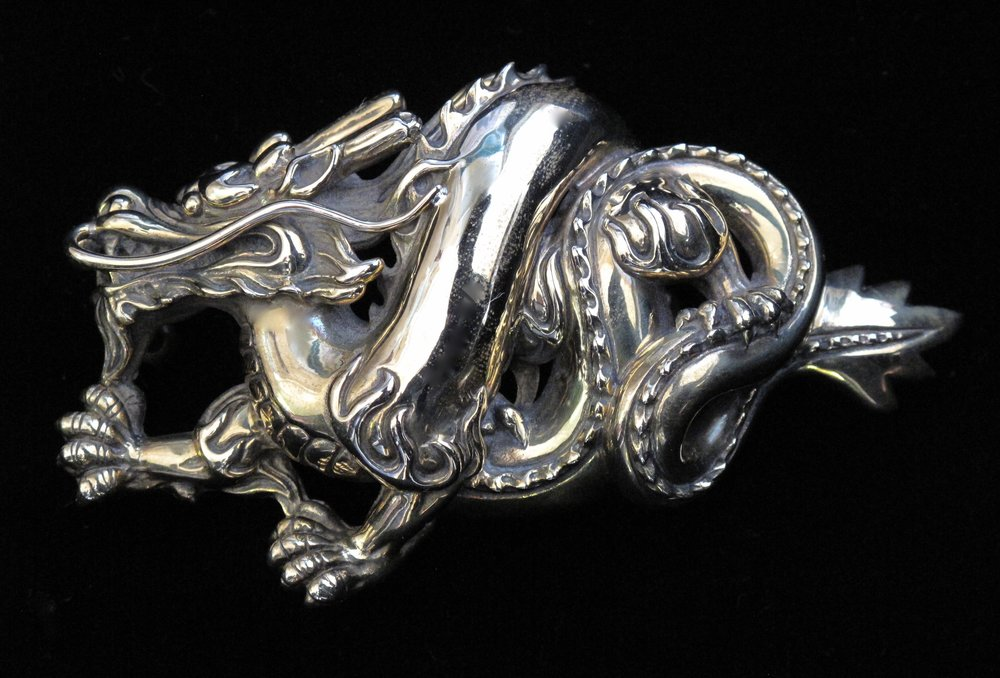 Chinese Fire Dragon Buckle