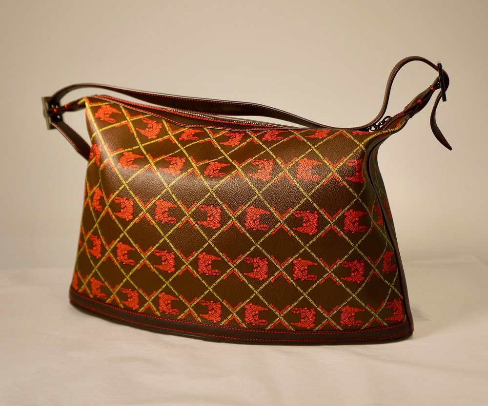 Crocodile Hall Collection Hobo Hand Bag