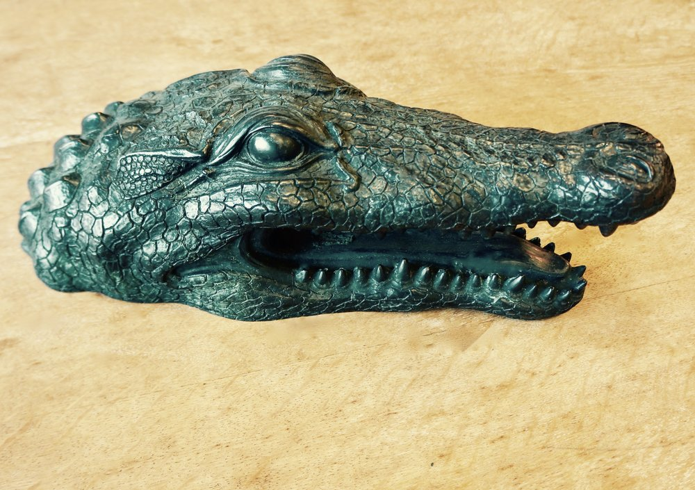 Bronze Alligator Head