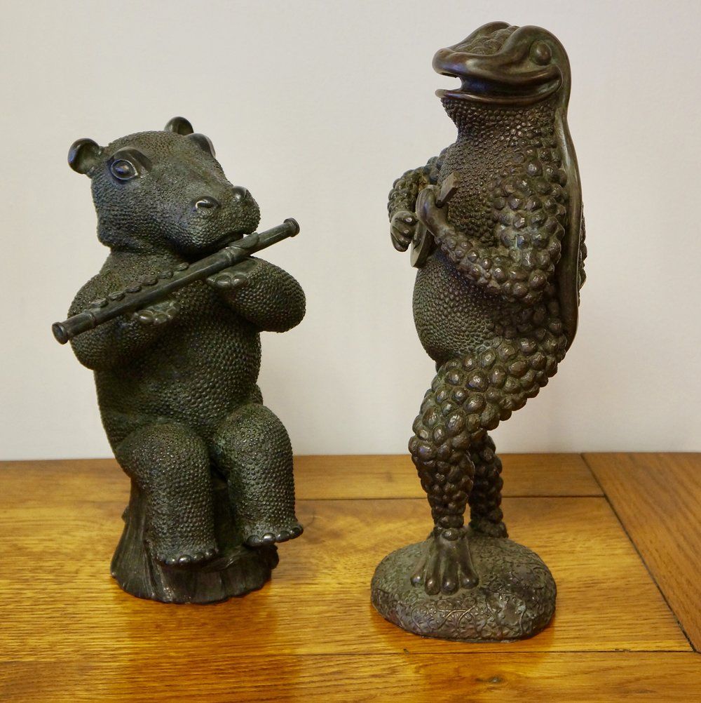 Happy Hippo and Herman in Bronze
