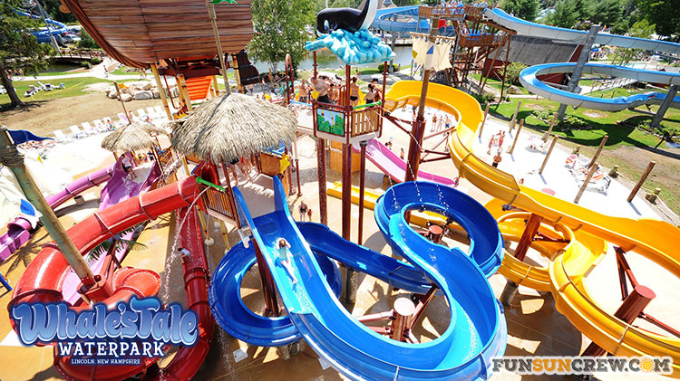 Best water parks in New England - Water parks in New Hampshire - Whales Tale waterpark - funsuncrew.com
