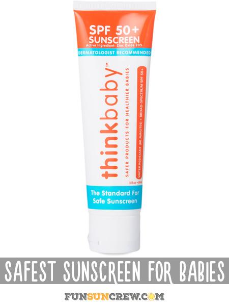 Safest Sunscreen for Babies - Best all natural baby sunscreen brands - funsuncrew.com