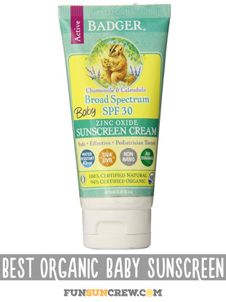 Best Organic Baby Sunscreen - Safest Sunscreen for Babies - funsuncrew.com