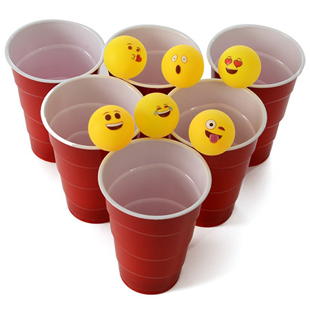 Emoji Beer Pong Balls - Emoji Party Ideas for Adults
