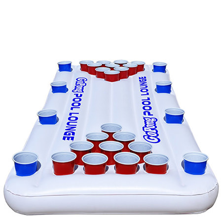 Floating Pool Beer Pong - Adult Pool Party Game Ideas