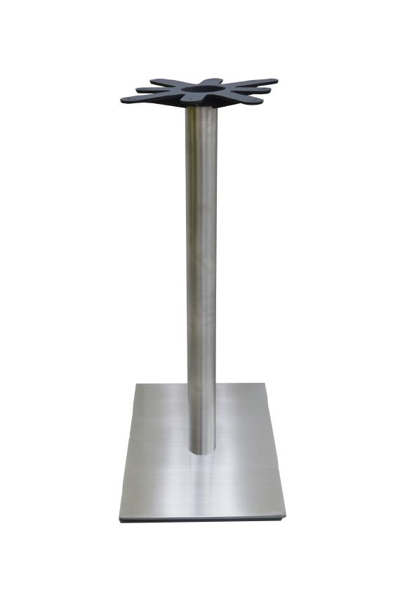 Chrome Rnd Column/Sq Base - BAR
