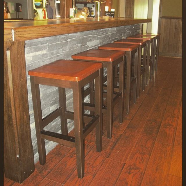 Classic Backless Barstools, Made in Canada, shipping across North America! These were two-tone stained to customers specifications.