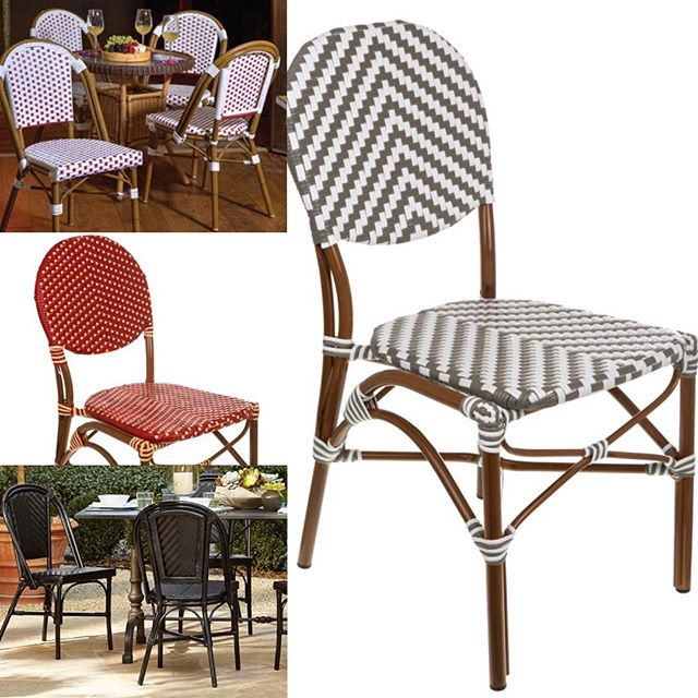 French Bistro Chairs! Now available on our website - most colours currently in stock for Summer 2019!