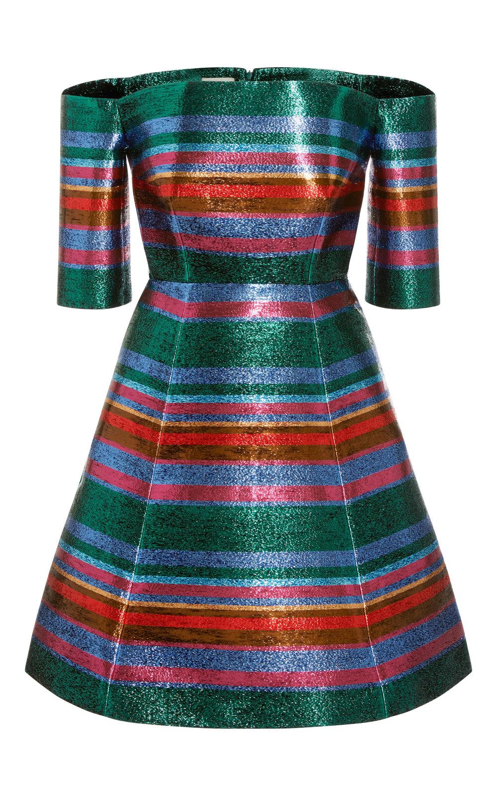 large_delpozo-green-strapless-lurex-striped-dress.jpg