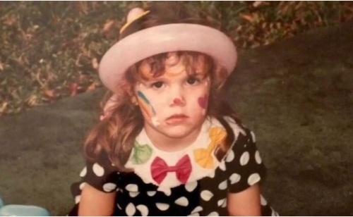 Yours truly, at her own birthday party, rocking a  RBF  and most likely displeased because the make up artist did not understand the face paint clashed with the main attraction: the polka dots. Lesson learned - always, always do a trial run before the real thing.