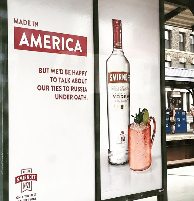 Sometimes you just have to take recent events and get creative! #vodka #odysseusdigitalmarketing #socialmediamarketing @smirnoff_vodka_official #russiaphoto