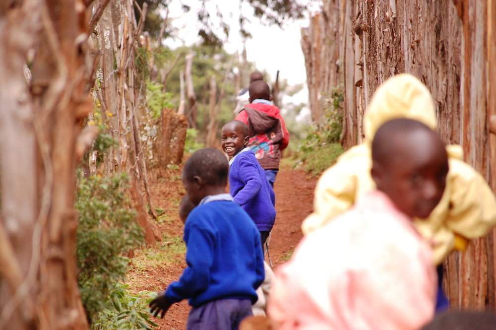 Kamariny Primary students walking home from school