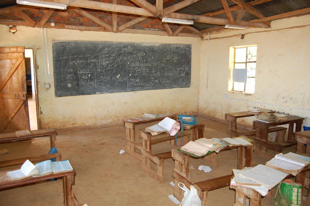 A rural classroom in western Kenya