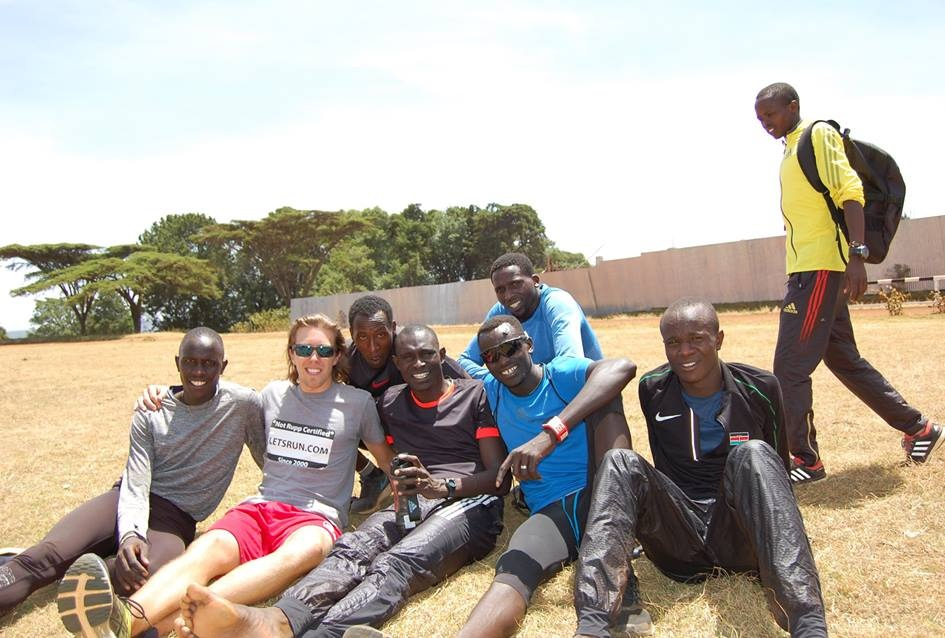 Post-Track workout with Olympic Champion David Rudisha and his Training Squad