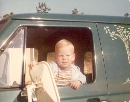 Chris as a young delivery driver