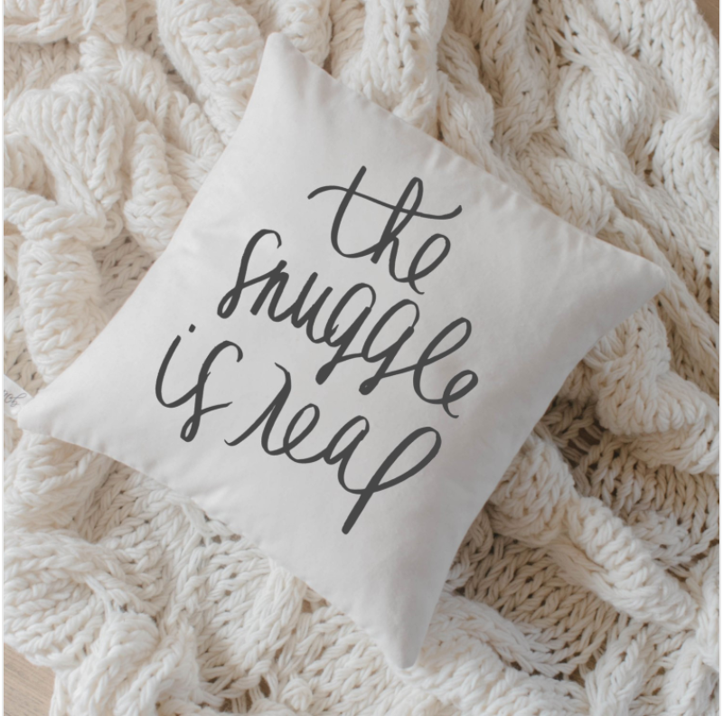 I love this pillow! It is my raison d'être; my mantra. What a perfect accent to Love's holiday.