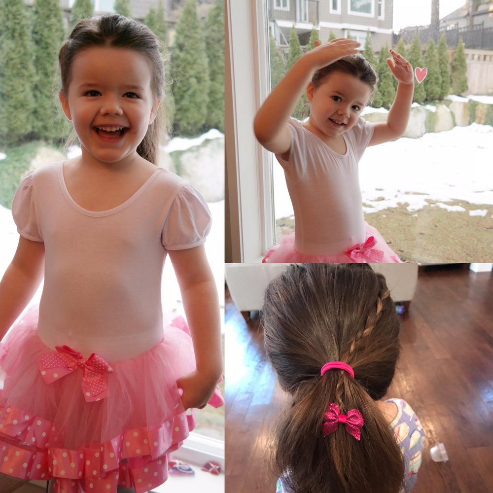 Our princess demonstrating some of her latest ballet moves. She would wear this tutu everywhere if we'd let her.