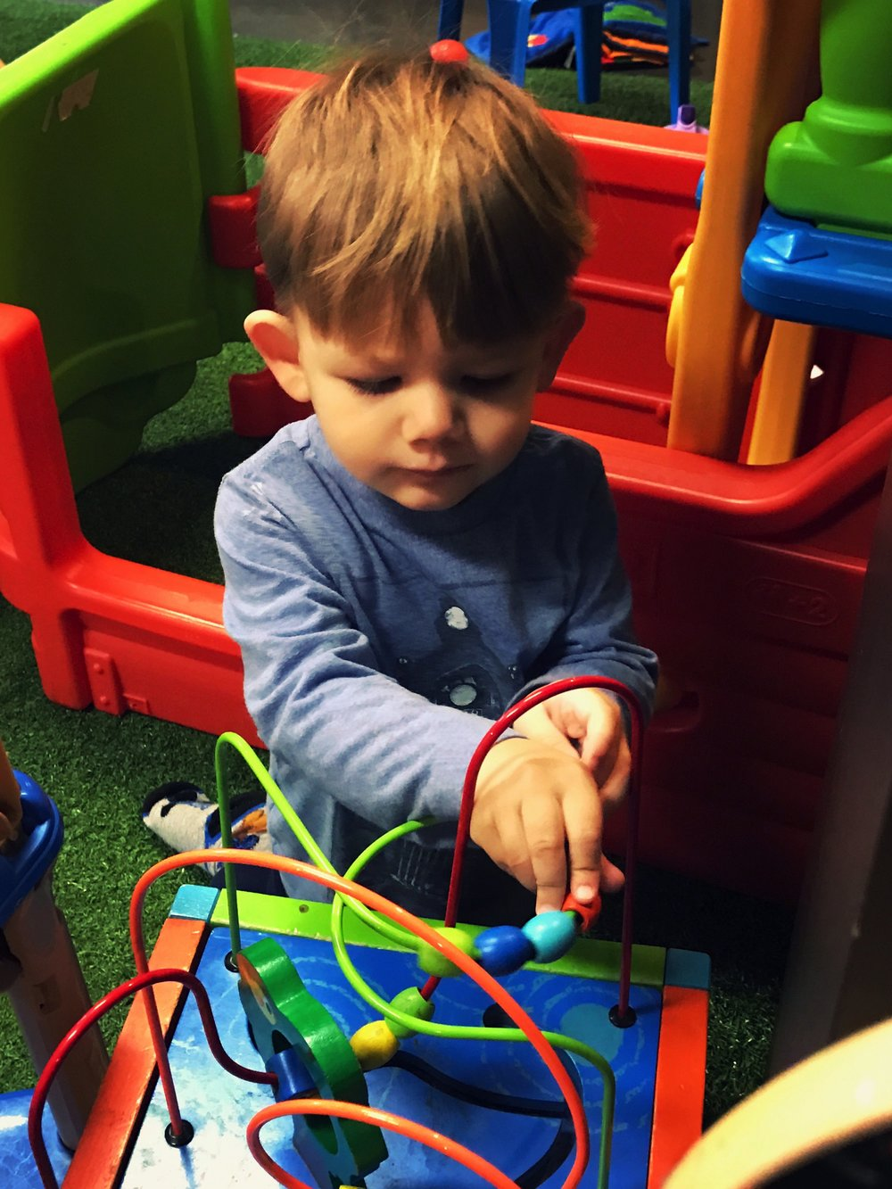 There were lots of new and fun toys to explore, climb and ride at the Play Cafe.