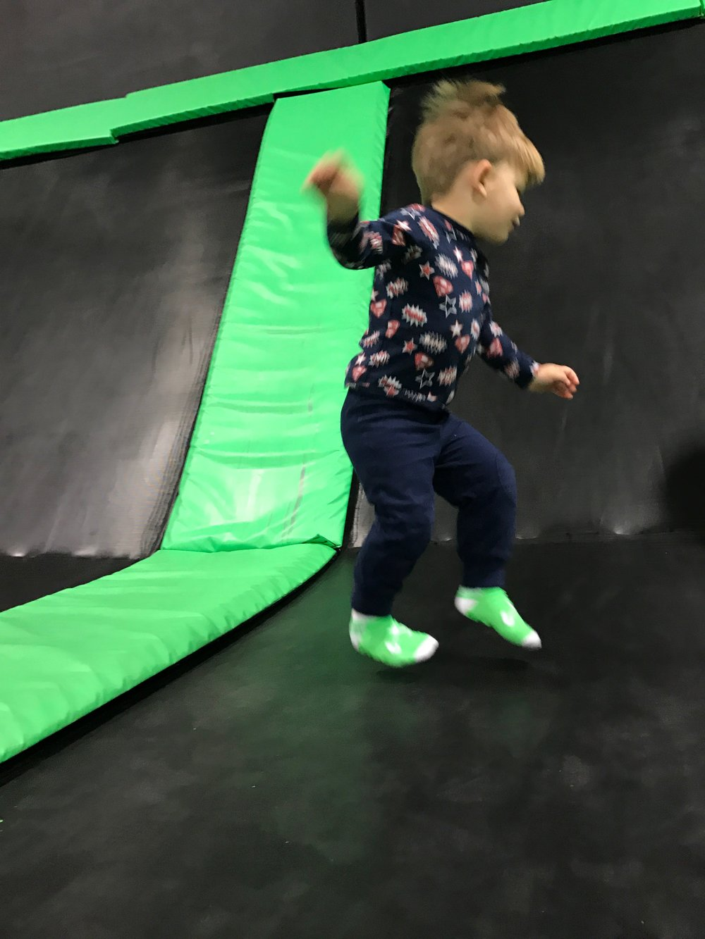 Photos from the Extreme Air Park are all a blur... as they should be. This place is far too exciting to stand still, even for .35 seconds.