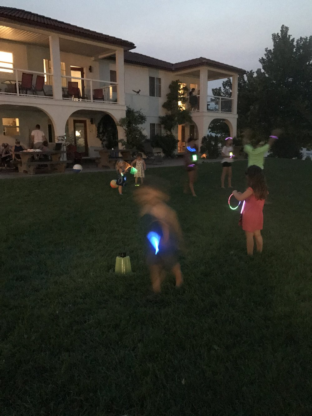 Our glow sticks launched a full resort glow party - at   least   12 kids joined the party - how fabulous is this?!