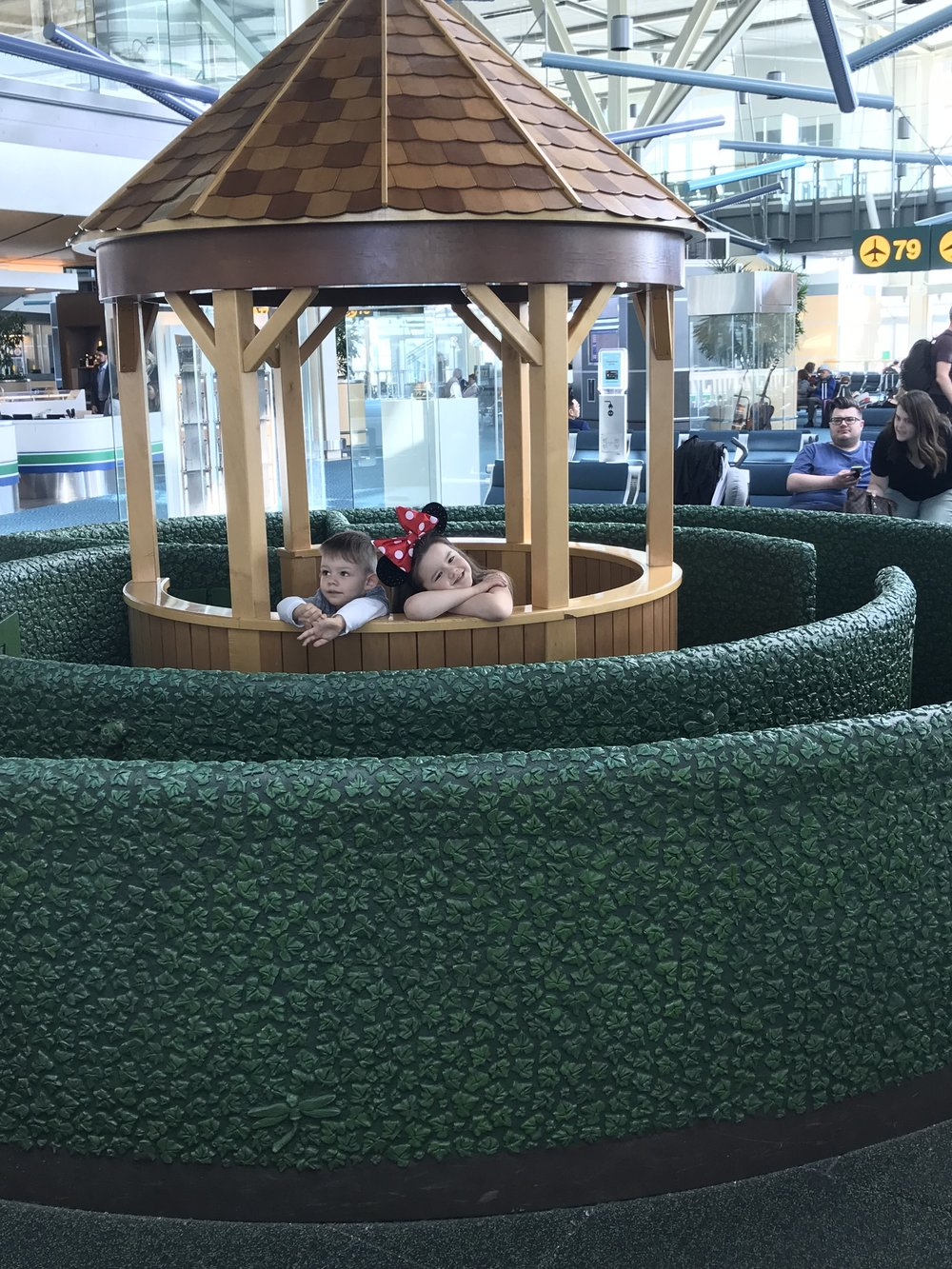 Air Canada US Departures Terminal  - Cute play area for all the waiting...