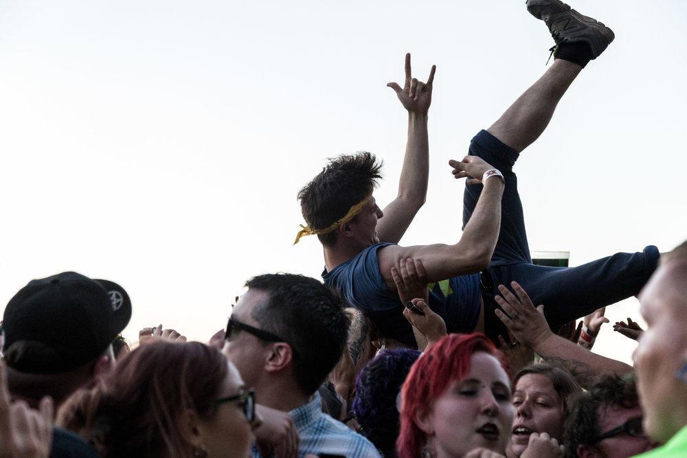 Crowd during Alkaline Trio