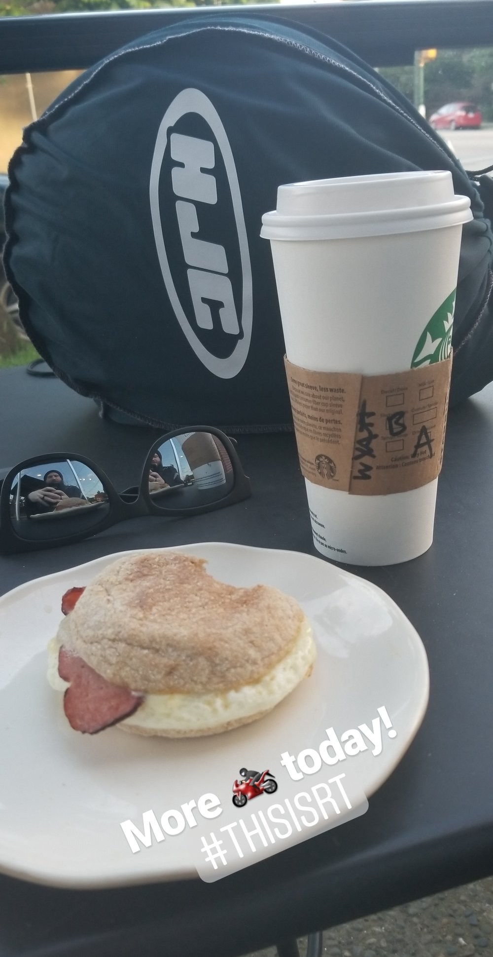 a little breakfast and fuel before my lesson.