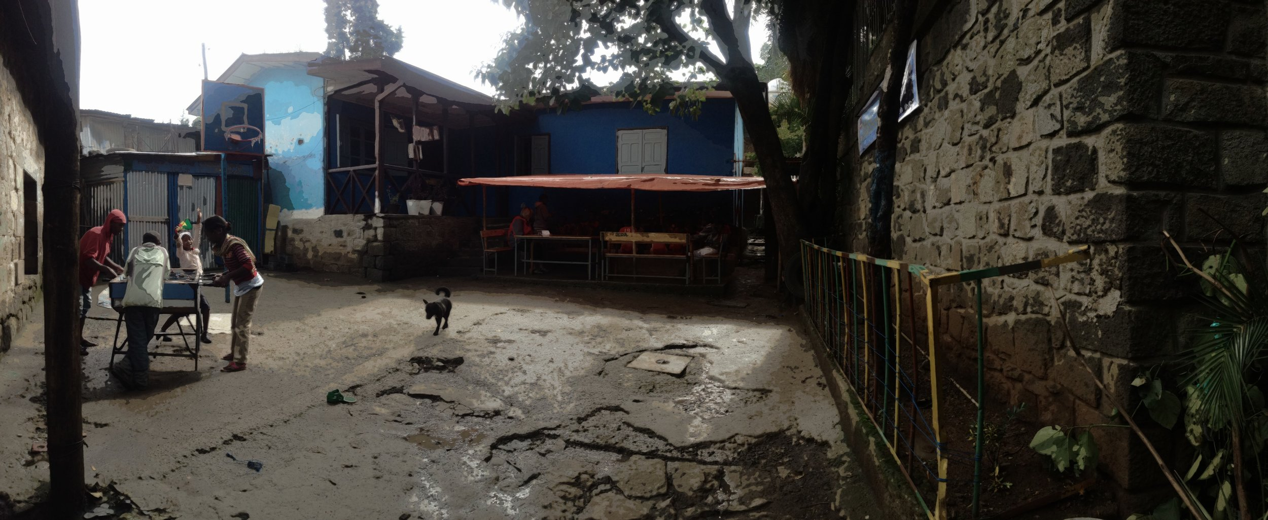 The front of Fekadu's drop-in center. A beacon of hope in the middle of Addis Ababa. This location has officially closed and the drop-in center is now at a temporary facility close by. Please join the Permanently His Campaign to ensure a permanent facility is in place in 2014.