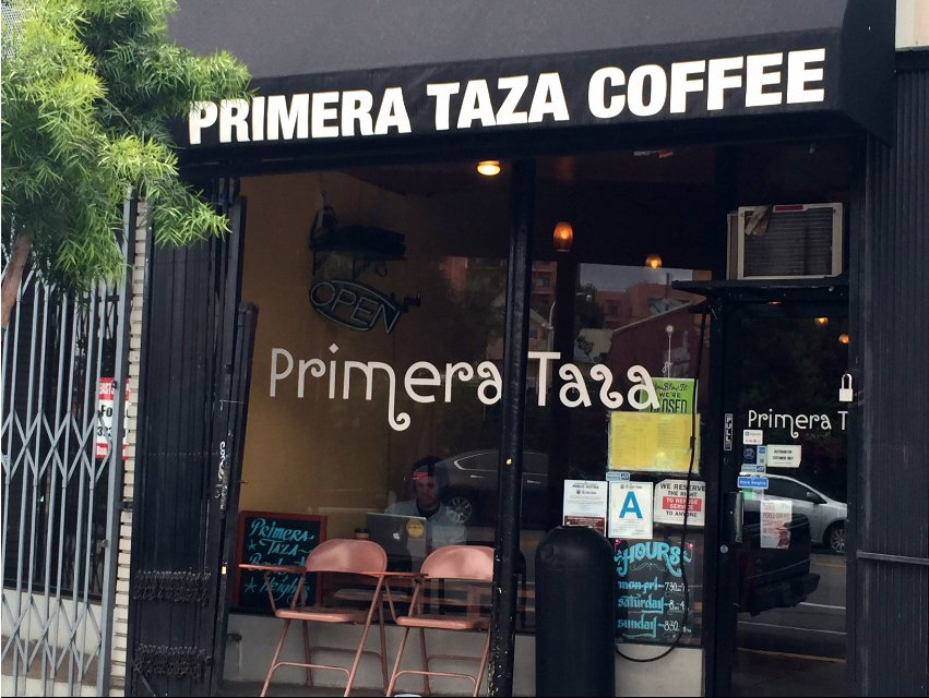 Primera Taza is right across the way from Mariachi Plaza
