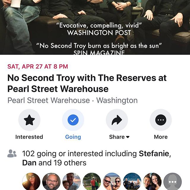 Need something to look forward to?? Our next show is coming up in DC at the Pearl Street Warehouse on Saturday, April 27 #livemusic #dcnightlife