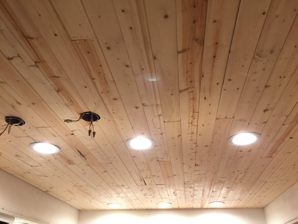 Here's the finished ceiling before paint.
