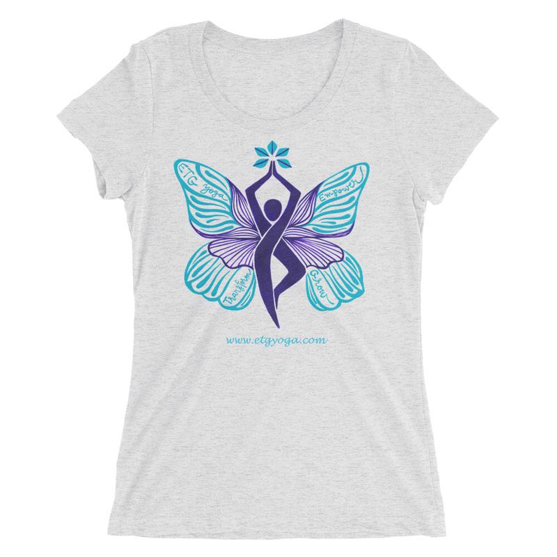 ETG Butterfly T-Shirt - White Fleck Triblend  (S,M,L,XL) - $26 (2XL) - $28